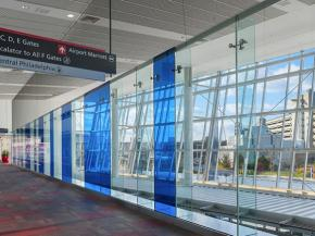 InvisiwallTM Glass Systems – Philadelphia International Airport, Terminal F – Photo credit: Tom Crane