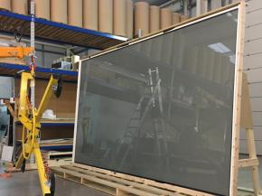 Getting ready to load the Digital Glass screen for dispatch