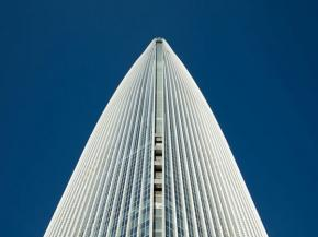 Lotte World Tower, looking up