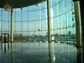 Norfolk Cruise Terminal Lets the Light Shine In with Glass Lobby Enclosure