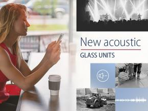 New acoustic glass units in Press Glass offer