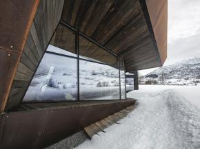 The building design by Invit arkitekter is said to be reminiscent of the rocks in the nearby mountains.