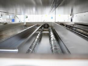 Look into the chamber of the coating line of the current generation.