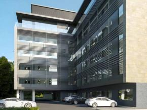 Maple's solar solutions to the force as glass dominates new office building in Cheltenham