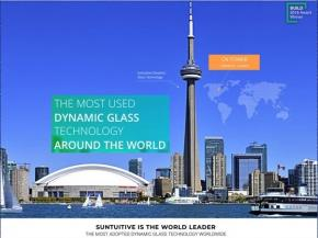 Pleotint launched its new website for their Suntuitive® Dynamic Glass product line
