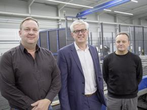 Frank Heckmann, Technical Branch Manager, Klaus Köttering, Technical Manager, and Reinhard Lerch, Operations Manager at the Nordhorn location