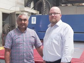 From left: Super Sealed Units Ltd's Sanjay Meghani, Director, and John Trott, General Manager, the newest addition to the company's expanding team.