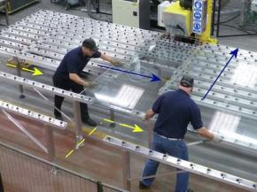 Walk-Thru castor bars - Extend your maximum processable glass size