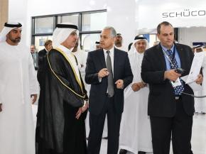 Ammar H. Alul with H.E. Saeed Mohammed Al Tayer, MD and CEO of DEWA, at the inauguration of Windows, Doors & Facades Event 2017
