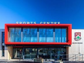 Picture this ― Maple creates 'frame' façade for school sports centre