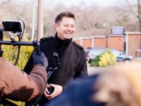 Opening doors with George Clarke – filming at the new Truedor factory