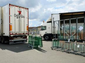 Osby Glas uses its own fleet to supply all of Sweden with high-quality flat glass products.