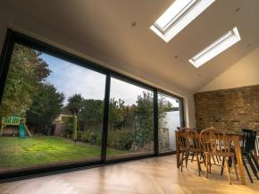Pitchglaze roof window with frameless design installed for sky-only views