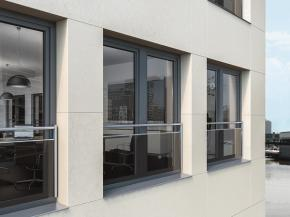 The new combined safety barrier with bar and glass for Schüco PVC-U windows rounds out the product portfolio with an attractive third safety option.