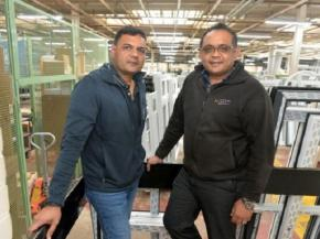 Atul Patel (left) and Sunil Patel (right) – joint Managing Directors of Unique Window Systems Ltd