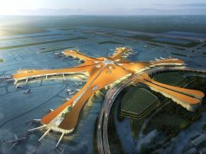 "Beijing New Airport — Glass From NorthGlass in ""Zaha Curve"" Design"