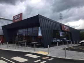 Full curtain wall shopfront job completed at new Costa Coffee store