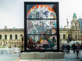 Creative Resins aid Publicis London in producing Game of Thrones® final season stained glass installation for this year's Tourism Ireland campaign