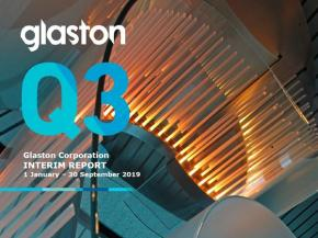 Glaston Interim Report 1 January – 30 September 2019