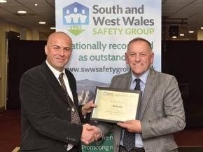 Matthew Hamar and Alan Brayley. South and West Wales Safety Awards 2018