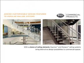 Trex Commercial Products Adds Customizable Design Features To Popular Railing Systems