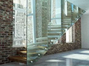 Elegant Glass Staircases Lighting up Interior Spaces