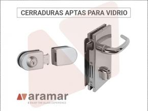 Discover the wide range of locks adapted to glass in Aramar