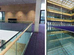 Sustainable Conference and Events Space specifies AMG Frameless Glass Balustrade System