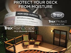 Protect Your Deck From Moisture With Trex® RainEscape® And Trex® Protect™