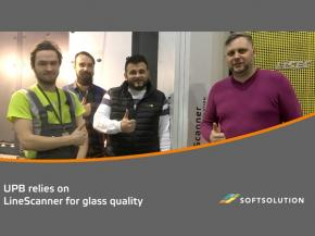 UPB relies on a SOFTSOLUTION LineScanner for glass quality