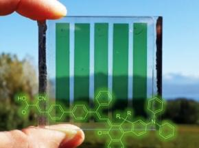 Photochromic solar cells change from pale yellow to orange, red or even dark green in bright light, increasing their photovoltaic efficiency at the same time.