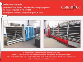 Online Auction Sale: Insulated Glass Sealed Unit Manufacturing Equipment no longer required by Abcell Ltd