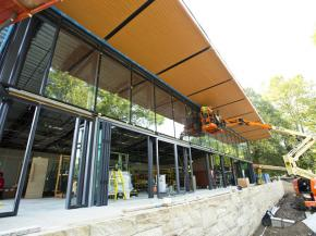 Energy-Efficient, Bird-Safe Glass Installed at National Aviary's New Garden Room