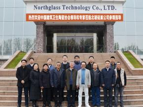 Group photo of Gao Xueming, chairman of North Glass and North Glass Si-Nest, with the association and expert leaders