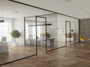 Modern Industrial Look with Glass Partitioning System