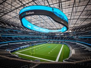 SoFi Stadium marks the biggest commercial railing project ever undertaken by Trex Commercial Products, which custom designed and engineered an unprecedented 73,000 linear feet of railing for the facility.