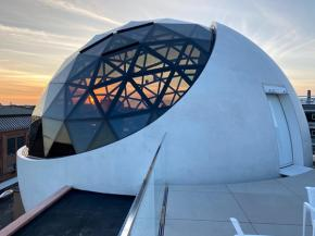 Liquid crystal glass helps realize the Niemeyer Sphere | eyrise®