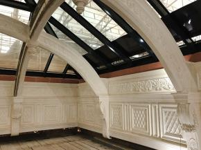 Eyrise liquid crystal glass installed for solar shading in Victorian rooflights at BAFTA's 195 Piccadilly headquarters