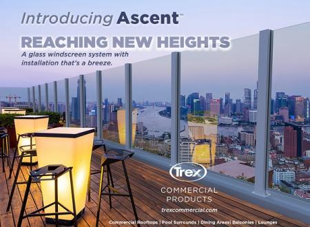 Trex Commercial Products Debuts Ascent™ Windscreen System