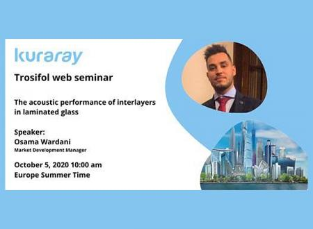 "Register now for the Trosifol® web seminar ""The acoustic performance of interlayers in laminated glass"""