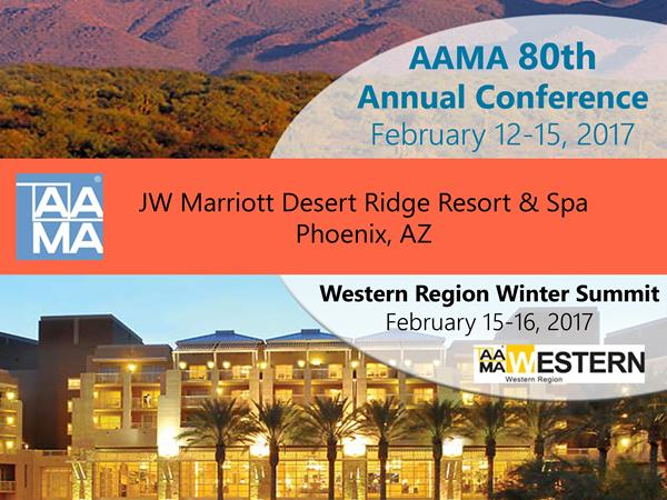 Milestone AAMA 80th Annual Conference registration opens, event structured; 2017-18 event dates set