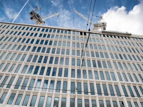 Façade work at 2 St Peter's Square nears completion