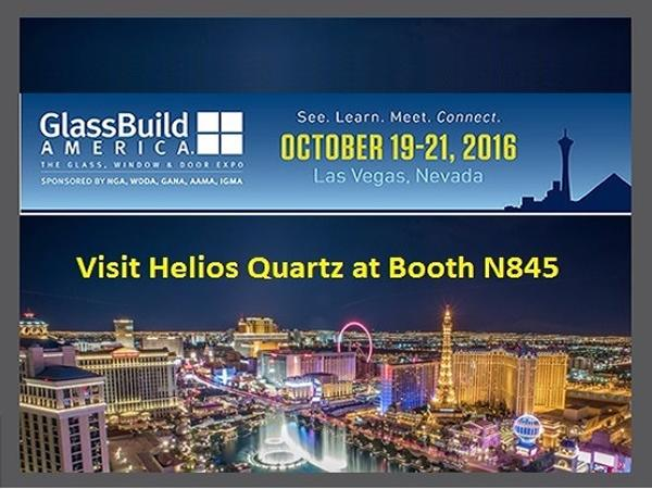 From October 19th to 21st Helios Quartz will be in Las Vegas to attend GlassBuild America 2016