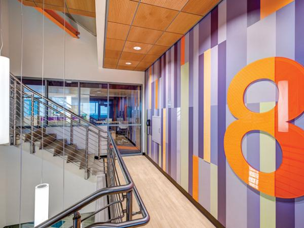 Prescription for safety: Fire-rated stairwell provides light and life safety for Medical Center