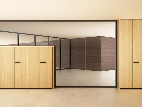 Equipped walls for office: two proposals vetroIN