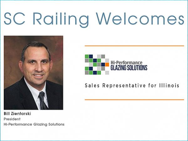 SC Railing Welcomes Hi-Performance Glazing Solutions as Sales Representative for Illinois