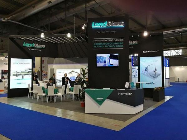 Landglass stand at Vitrum