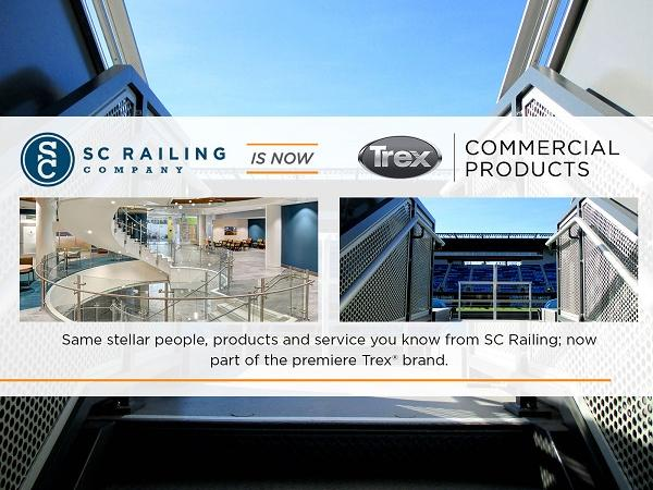 SC Railing renamed Trex Commercial Products