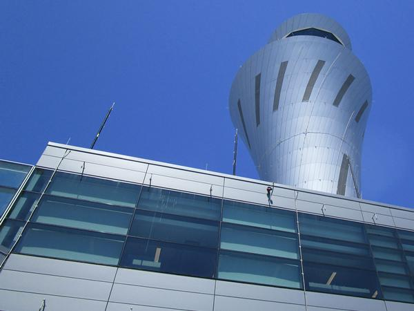 San Francisco International Airport's new air traffic control tower, LEED Gold features Linetec finishing