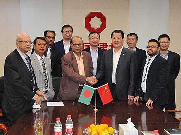 CTIEC Signs contract of float glass project in Bangladesh